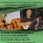 ANUL·LAT!!! 28 de maig – Taller: L'acompanyament amb guitarra i guitarró en la música tradicional