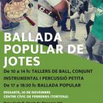 30 de novembre – Ballada popular de Jotes a la VII Fira de Tardor de Sant Eloi