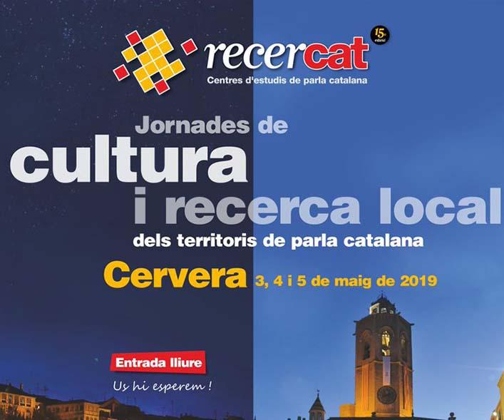4  de maig – Jornades de cultura i recerca local dels territoris de parla catalana a Cervera